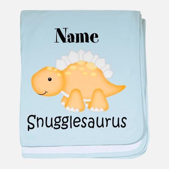 Personalized Snugglesaurus baby blanket