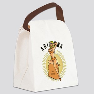 Vintage Arizona Pinup Canvas Lunch Bag
