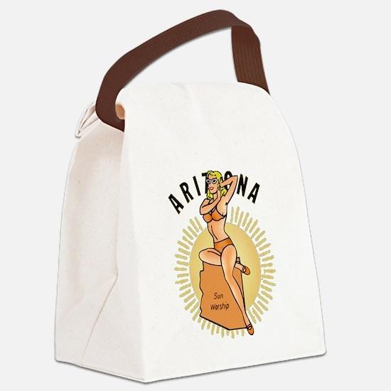 Vintage Arizona Pinup Canvas Lunch Bag