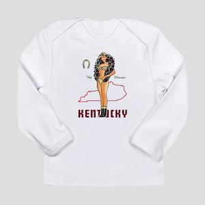 Vintage Kentucky Pinup Long Sleeve T-Shirt