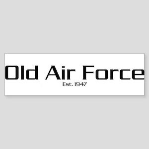 'Old Air Force' Bumper Sticker