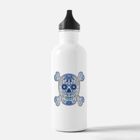 Day of the Dead Skull Water Bottle