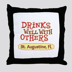 St. Augustine - Drinks Well Throw Pillow