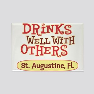 St. Augustine - Drinks Well Rectangle Magnet