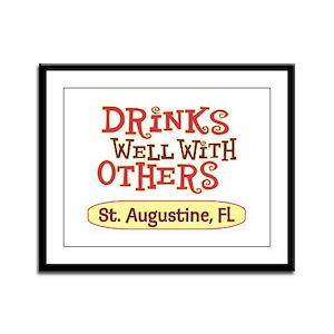 St. Augustine - Drinks Well Framed Panel Print