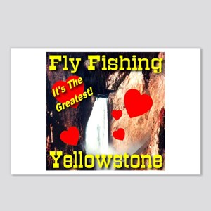 Fly Fishing Yellowstone It's Postcards (Package o