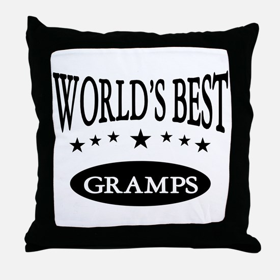 World's Best Gramps Throw Pillow