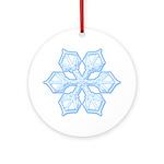 Flurry Snowflake XIX Ornament (Round)