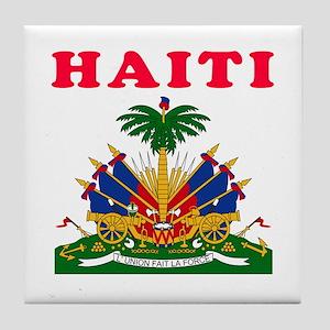 Haiti Coat Of Arms Designs Tile Coaster