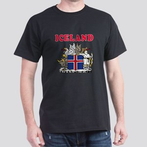 Iceland Coat Of Arms Designs Dark T-Shirt