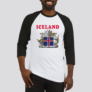 Iceland Coat Of Arms Designs Baseball Jersey