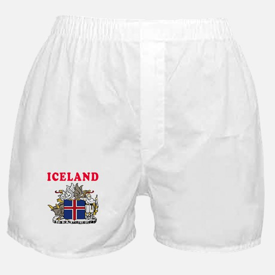 Iceland Coat Of Arms Designs Boxer Shorts