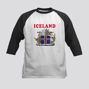 Iceland Coat Of Arms Designs Kids Baseball Jersey