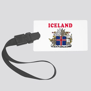 Iceland Coat Of Arms Designs Large Luggage Tag