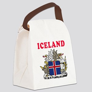 Iceland Coat Of Arms Designs Canvas Lunch Bag