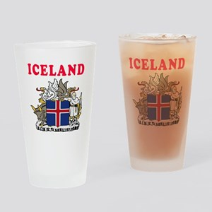 Iceland Coat Of Arms Designs Drinking Glass