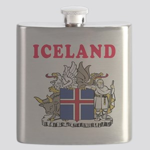 Iceland Coat Of Arms Designs Flask