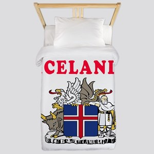 Iceland Coat Of Arms Designs Twin Duvet