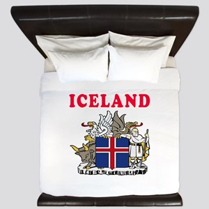 Iceland Coat Of Arms Designs King Duvet