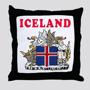 Iceland Coat Of Arms Designs Throw Pillow