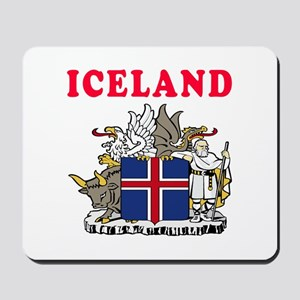 Iceland Coat Of Arms Designs Mousepad