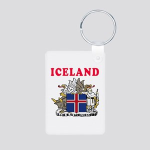 Iceland Coat Of Arms Designs Aluminum Photo Keycha