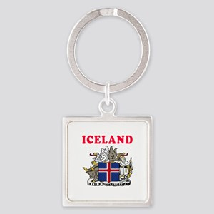 Iceland Coat Of Arms Designs Square Keychain