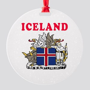 Iceland Coat Of Arms Designs Round Ornament