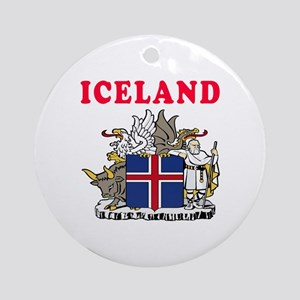 Iceland Coat Of Arms Designs Ornament (Round)