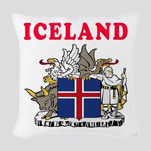 Iceland Coat Of Arms Designs Woven Throw Pillow