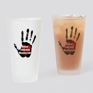 Human Trafficking Missions Small Logo Drinking Gla