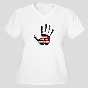 Human Trafficking Missions Small Logo Plus Size T-