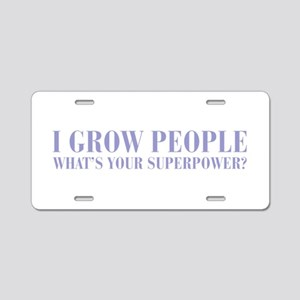 I-grow-people-BOD-VIOLET Aluminum License Plate