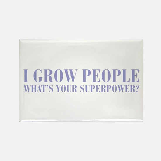I-grow-people-BOD-VIOLET Rectangle Magnet
