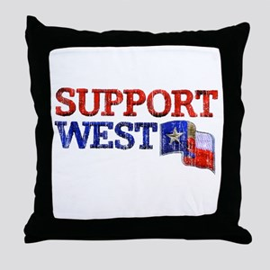Support West Throw Pillow