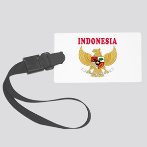 Indonesia Coat Of Arms Designs Large Luggage Tag