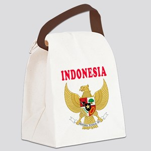 Indonesia Coat Of Arms Designs Canvas Lunch Bag