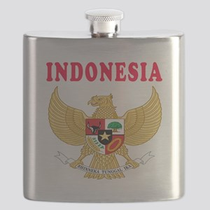 Indonesia Coat Of Arms Designs Flask