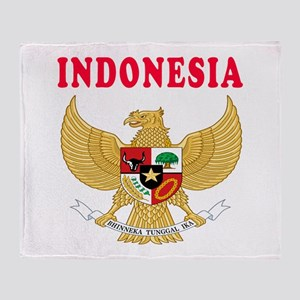Indonesia Coat Of Arms Designs Throw Blanket
