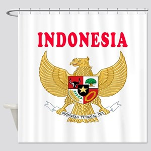 Indonesia Coat Of Arms Designs Shower Curtain