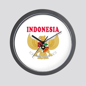 Indonesia Coat Of Arms Designs Wall Clock