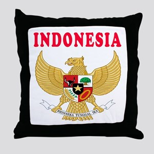 Indonesia Coat Of Arms Designs Throw Pillow