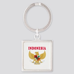 Indonesia Coat Of Arms Designs Square Keychain