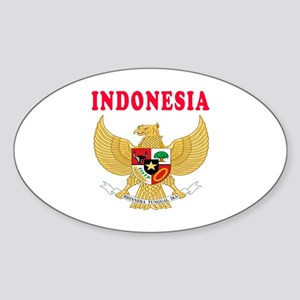 Indonesia Coat Of Arms Designs Sticker (Oval)