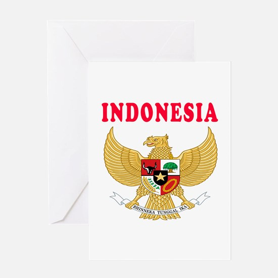 Indonesia Coat Of Arms Designs Greeting Card