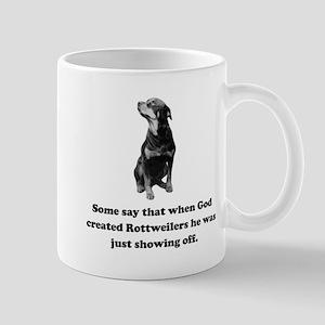 When God Created Rottweilers Small Mug