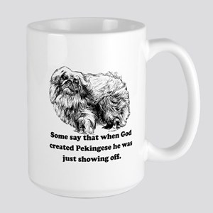 When God Created Pekingese Mug
