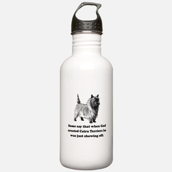 When God Created Cairn Terriers Sports Water Bottl