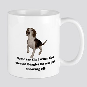 When God Created Beagles Small Mug