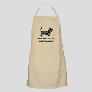 When God Created Basset Hounds Apron